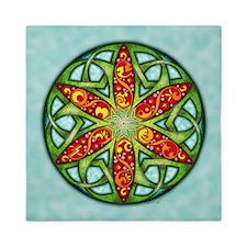Celtic Summer Mandala Queen Duvet