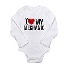 Unique I heart my girls Long Sleeve Infant Bodysuit