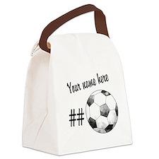 Soccer Art Canvas Lunch Bag