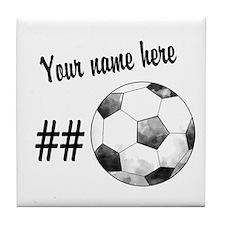 Soccer Art Tile Coaster