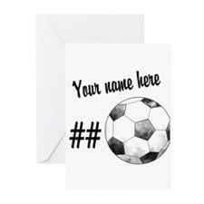 Soccer Art Greeting Cards