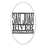 River Running Oval Decal