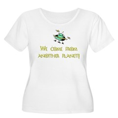 We Come From Another Planet! Women's Plus Size Sco