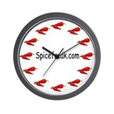 All Hot Peppers Wall Clock