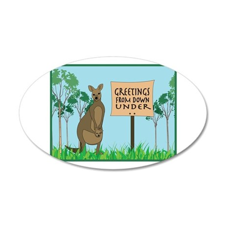 Greetings From Down Under Wall Decal
