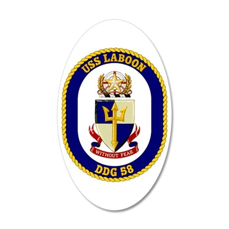 DDG-58 USS Laboon 20x12 Oval Wall Decal