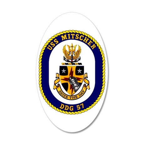 DDG-57 USS Mitscher 20x12 Oval Wall Decal
