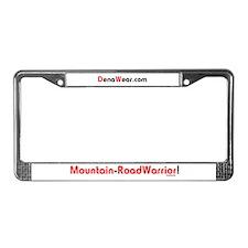"""Mountain-RoadWarrior!"" License Plate Frame"