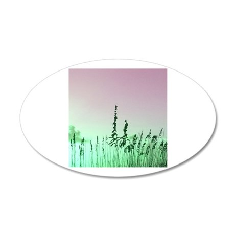 sea oats red green florida sunrise Wall Decal