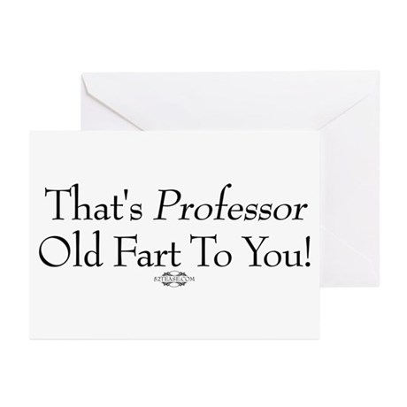 Professor Old Fart Greeting Cards (Pk of 10)