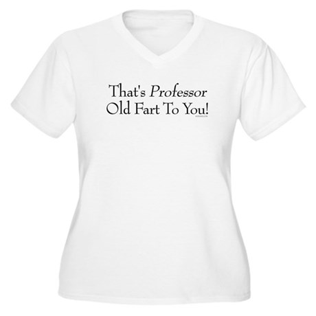 Professor Old Fart Women's Plus Size V-Neck T-Shir