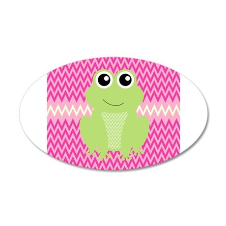 Cute Frog on Pink Wall Decal
