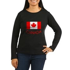 Canada flag and country name. Canada Day. Long Sle