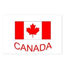 Canada flag and country name. Canada Day. Postcard