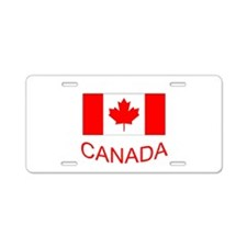 Canada flag and country name. Canada Day. Aluminum