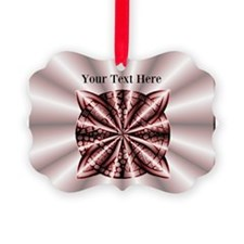 Red Celtic Knot Customized Ornament