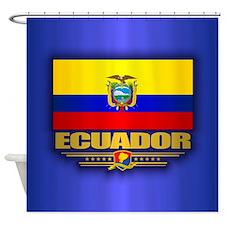 Flag of Ecuador Shower Curtain