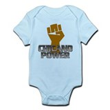 Chicano Power Fist Onesie