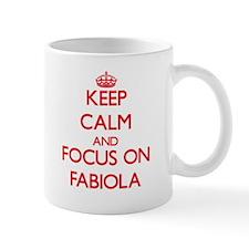 Keep Calm and focus on Fabiola Mugs