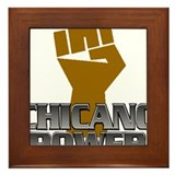 Chicano Power Fist Framed Tile