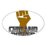 Chicano Power Fist Oval Decal