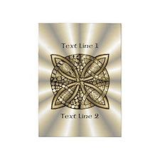 Gold Metallic Celtic Knot Customize 5'x7'Area Rug