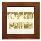 Chicano Power Undercover Framed Tile