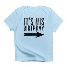 It's His Birthday (right Arrow) Infant T-Shirt