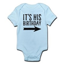It's His Birthday (right Arrow) Baby Body Suit