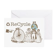 Retro Recycle Greeting Cards (Pk of 10)