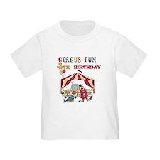 Circus Fun 4th Birthday T