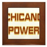 Chicano Power Trekker Framed Tile