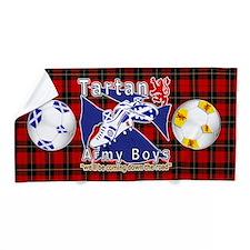 Scottish Red Tartan Army_b Beach Towel