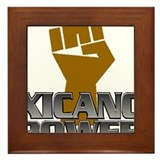 Xicano Power Fist Framed Tile