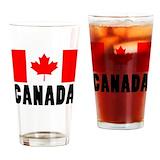 Canadian flag drinking glasses Pint Glasses