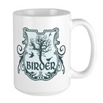 Gothic Birder Shield Large Mug