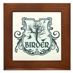 Gothic Birder Shield Framed Tile