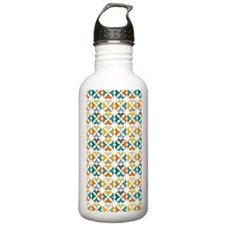 Quarter Circles Floral Water Bottle