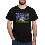 Starry Night Whippet Dark T-Shirt