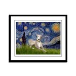 Starry Night Whippet Framed Panel Print