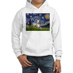 Starry Night Whippet Hooded Sweatshirt