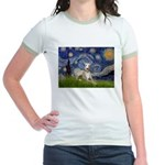 Starry Night Whippet Jr. Ringer T-Shirt