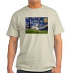 Starry Night Whippet Light T-Shirt
