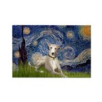 Starry Night Whippet Rectangle Magnet (10 pack)