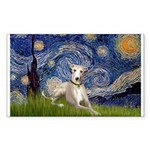 Starry Night Whippet Sticker (Rectangle)