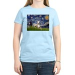Starry Night Whippet Women's Light T-Shirt