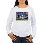 Starry Night Whippet Women's Long Sleeve T-Shirt