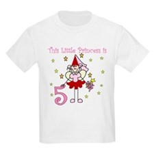 Fairy Princess 5th Birthday Kids T-Shirt