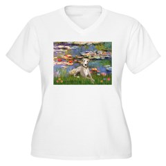 Lilies & Whippet Women's Plus Size V-Neck T-Shirt