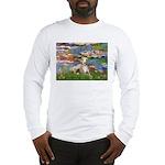 Lilies & Whippet Long Sleeve T-Shirt